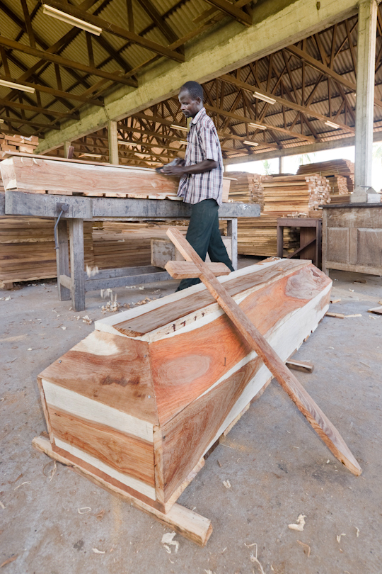 Due to the HIV-AIDS crisis a timber sawmill<p> decided to employ carpenters to make coffins