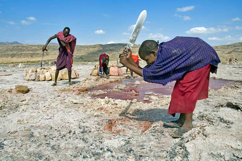 Soda extraction by local Massai communities has no <p>negative impact on the fragile environment