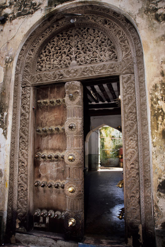 An elaborately carved door indicated the wealth<p> and social position of the owner of the house
